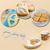 16pcs Stainless Steel Cookie Moulding Kit