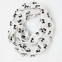 Cats Cat Person Circle Scarf in White by ModCloth