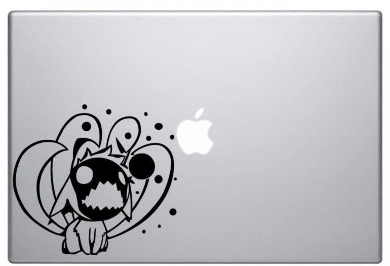 Chibi Nine Tails Naruto Decal Sticker Skin Apple MacBook Pro Air Mac