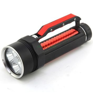 DV400 4* CREE XM-L2 LED 3800 LM Strong light flashlight for diving,hiking,camping,survival Waterproof Flash light lamp
