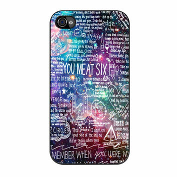 You Me At Six Quote All Time Low Galaxy iPhone 4s Case