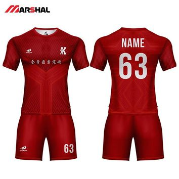 Personalized  custom any logo football shirt maker  sports uniforms soccer jersey for sale