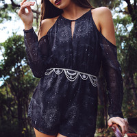 Bossy The Label - Key Playsuit - Starry Moon