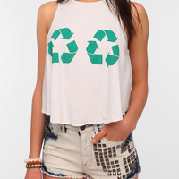 Urban Outfitters - Le Shirt Recycle Cropped Tank Top