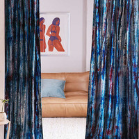 Eden Tie-Dye Window Curtain | Urban Outfitters