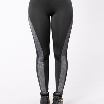 Workout Vibes Leggings - Black