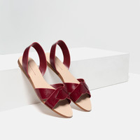 LEATHER STRAP SANDALS - View all-SHOES-WOMAN | ZARA United Kingdom