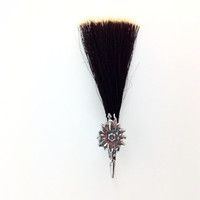 Edelweiss German Hat Pin with Hair Brush