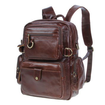 High Quality Cross Body Leather Vintage Leather Style Briefcase bag Men Messenger Laptop Backpack For MacBook,for ipad