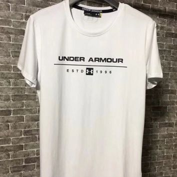 Under Armour short sleeve outdoor letter sports loose T -shirt