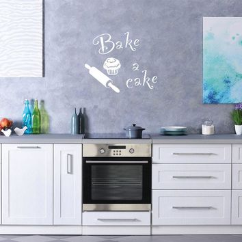 Bake & Cake Wall Decal