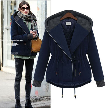 Dark Blue Parka Jacket