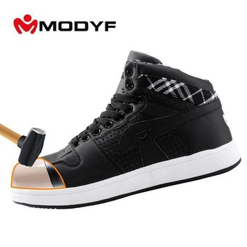 Modyf Men's steel toe cap work safety shoes casual breathable outdoor puncture proof p