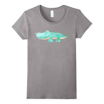 Cute Watercolor Alligator | Unique Animal Art T-Shirt & Gift