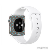 The Gray & Blue Polka Dot Full-Body Skin Kit for the Apple Watch