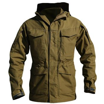 M65 Army Clothes Tactical Windbreaker Men Winter Autumn Thermal Flight Pilot Coat Male Hoodie Military Field Jacket