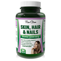 #1 Recommended best Hair Skin and Nails Vitamins with 3000mcg Biotin for Hair Growth. Best Multivitamin Hair Loss Treatment with Folic Acid.