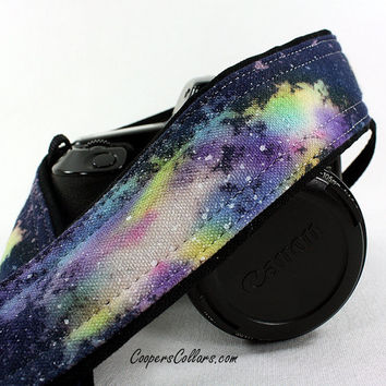 312 Galaxy Camera Strap, OOAK Hand painted, One of a Kind, dSLR or SLR, Cosmos, Nebula, OOAK, w
