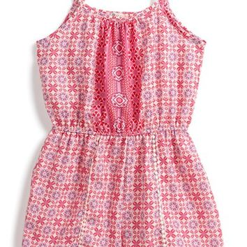Girl's Ten Sixty Sherman 'Lace Tulip' Sleeveless Romper,