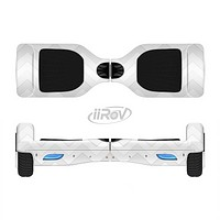 The Faded White Zigzag Chevron Pattern Full-Body Skin Set for the Smart Drifting SuperCharged iiRov HoverBoard