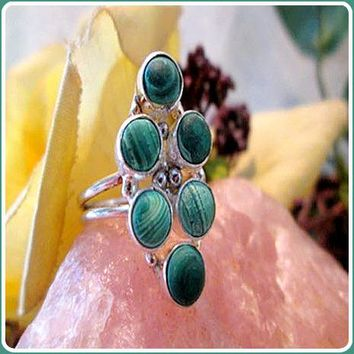 Unconditional Love Malachite Sterling Silver Ring