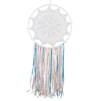 XL Artisan Crafted Boho Feather Ribbon Dreamcatcher