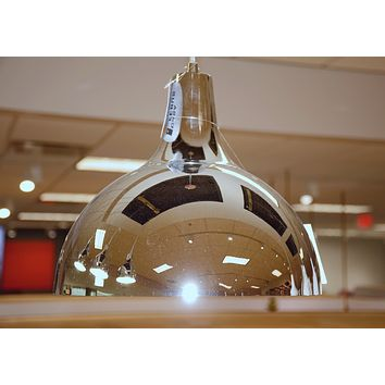 "Industrial Pendant Lamp 12"" - Polished Nickel"