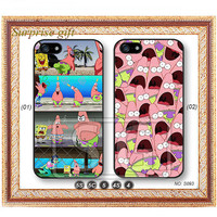 Phone 5 case iPhone 5c case iPhone 5s case iPhone 4 case iPhone 4s case, iPhone case, Phone case Spongebob, surprised patrick --S093