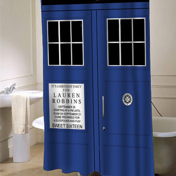 tardis dr who Shower Curtain