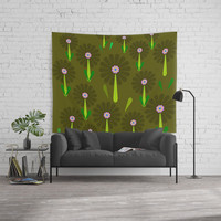 zappwaits Flower Wall Tapestry by netzauge