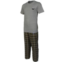 Buffalo Sabres Empire Pajama Set - Gray/Navy Blue - http://www.shareasale.com/m-pr.cfm?merchantID=7124&userID=1042934&productID=528452027 / Buffalo Sabres