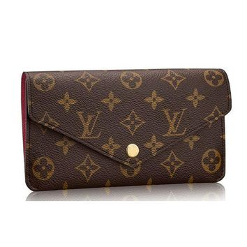DCCK Louis Vuitton Monogram Canvas Jeanne Wallet Article:M62155 Made in France