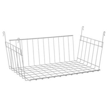"26222 Hanging Basket, 17"", Shelving D additional for H Basket storage Wire space Hanging W Instantly 6222 Baskets in 17 Drawer with White 5 26222.., By ClosetMaid Ship from US - Walmart.com"