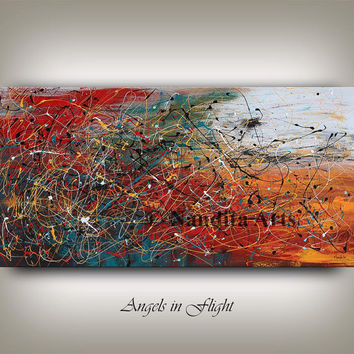Art Painting, Wall Art, Original Painting, Abstract Painting on Canvas, Extra Large Wall Art, original oil painting Contemporary art Nandita