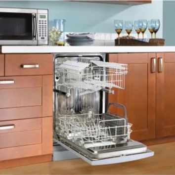 Danby, 18 in. Front Control Dishwasher in White with Stainless Steel Tub, DDW1809W-1 at The Home Depot - Mobile
