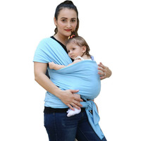 Baby Wrap Sling Carrier Soft Cotton Comfortable Baby Wrap Carrier Infant Nursing Cover Breastfeeding Cover Backpack 0-3 Yrs