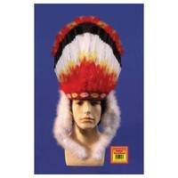 Star Power Colorful Indian Native American Headdress, One-Size