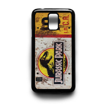 Jurassic Park Jeep License Plate 10 Samsung Galaxy S3 S4 S5 Note 2 3 4 HTC One M7 M8 Case