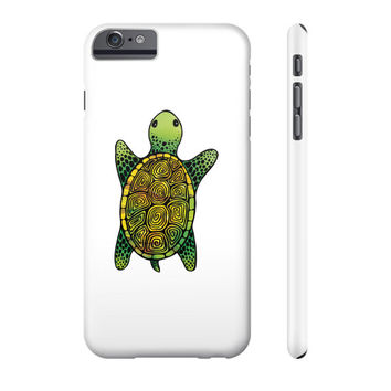 Painted Watercolor Turtle Phone Case