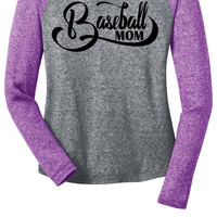 Baseball Mom Long Sleeve Raglan Tee