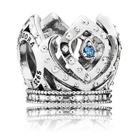 disney parks frozen elsa crown pandora jewerly charm new with pouch