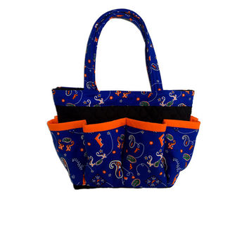University of Florida Gators Print Bingo Bag // Craft Organizer // Makeup Organizer // Caddy // Teacher Tote // Nurse Tote