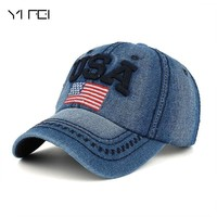 Trendy Winter Jacket The Flag Of The United States Letter USA Cap Cotton Hat Snapback Outdoor Sports Gorras Hip Hop Men Women Baseball Cap AT_92_12