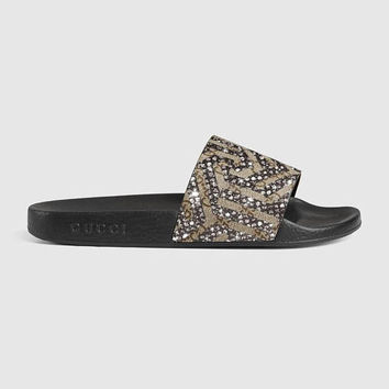 GG Supreme sandal, Fashionable Glam Slides, Gucci slides for Fashionistas, Insta perfect Gucci slides, Gucci Glam, Gucci Gang
