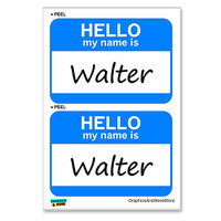 Walter Hello My Name Is - Sheet of 2 Stickers