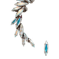 Ryan Storer - Oxidized silver-plated Swarovski crystal earrings
