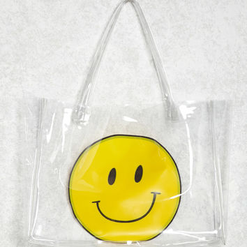 Happy Face Clear Tote Bag