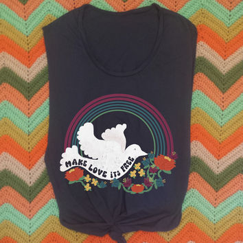 Make Love 70s Retro Muscle Tee