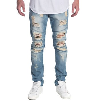 Crysp Montana Ripped Denim In Blue