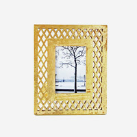 Lattice in Gold Photo Frame